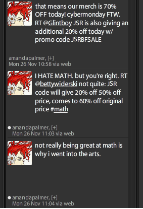 Twitter exchange with AFP re calculating sale prices