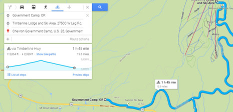 bike elevation Google