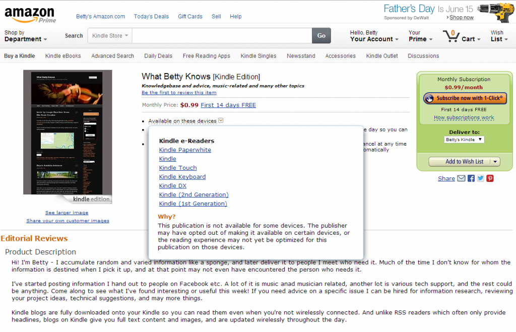 WBK Amazon subscription page view